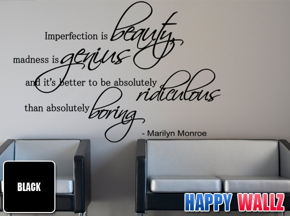Slaapkamer Muur Quotes : Marilyn Monroe Quote Decal Wall Decor