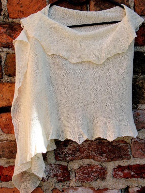 Scarf Shawl Wrap Stole linen white