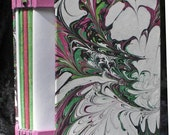 Handmade BLANK JOURNAL with Handmade Marbled Paper - ShariArts
