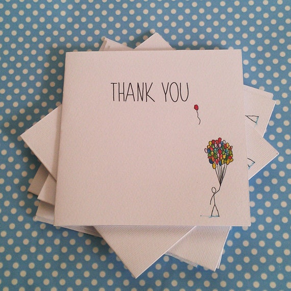 Balloon Thank You Cards