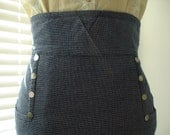 Retro High Waist Denim Stretch Pencil Skirt