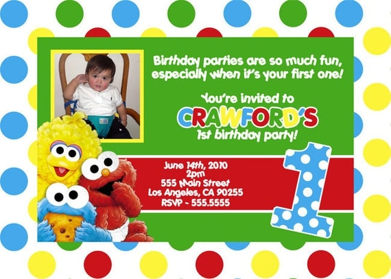 Sesame street invitations party inspiration board sesame street invitations elmo cardsjr pronofoot35fo Images