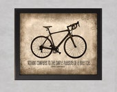 Nothing Compares - 8x10 photo print - Bicycle Poster Wall Art JFK Quote Simple Pleasure of Riding a Bike Brown Beige Tan Sepia Texture - quotograph