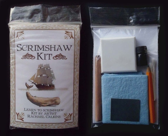 Scrimshaw tile craft kit 20% off for the holidays