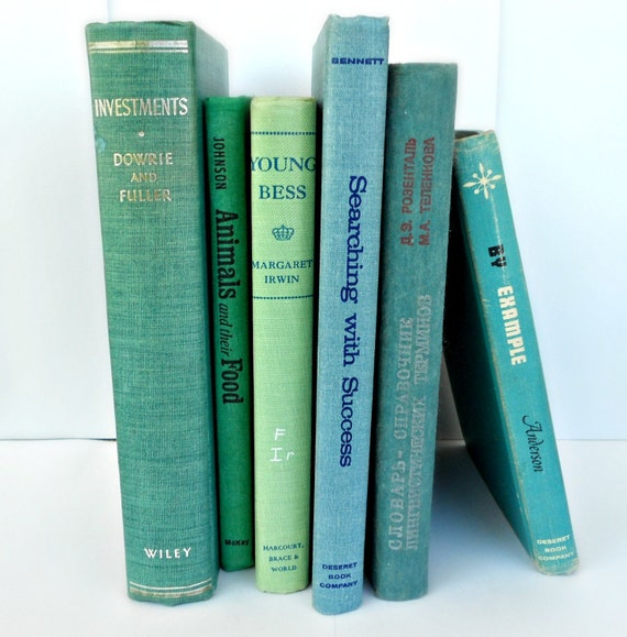 Instant Collection Vintage Books - Blue/Green/Teal