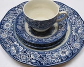 "Staffordshire ""Liberty Blue"" - Four Pieces - JosChinaShop"