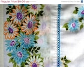 CIJ SALE Vintage Floral Pillowcase with Daisies in Standard Size - SewReallyCute