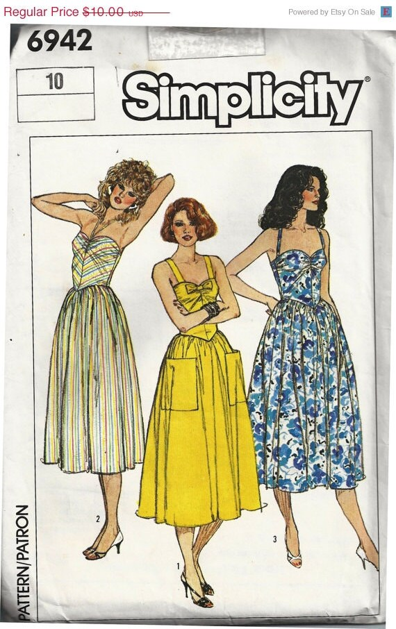 CIJ SALE Simplicity Sun Dress Pattern 6942 UNCUT  size 10
