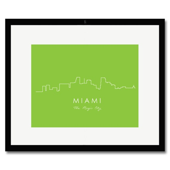 Miami City Skyline Print