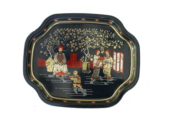 Chinoiserie Metal Tray