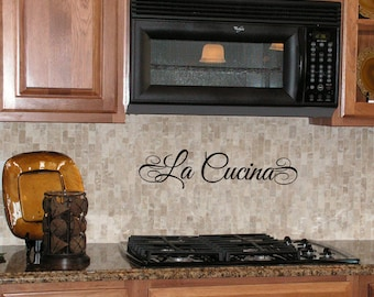 LA COCINA Spanish Kitchen wall decal vinyl by LivelyLettering