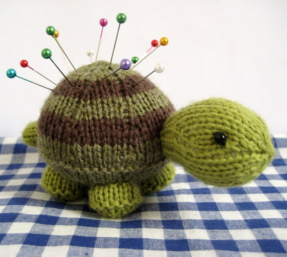 Tavistock Tortoise knitting pattern toy or pin cushion by fluffandfuzz Craf...