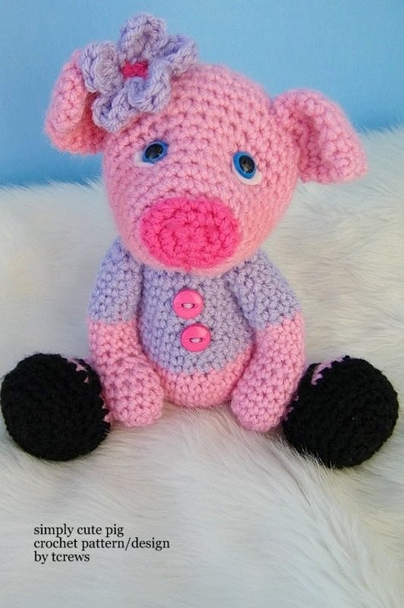 Pig Crochet Pattern by Teri Crews PDF Format Instant Download