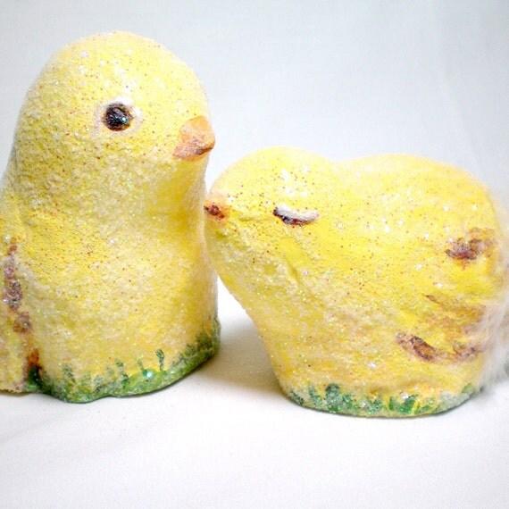 yellow peep chicks for easter decor