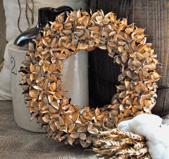 "Cotton Bur Wreath - Natural Cotton Bur - Raw Cotton - Candle Ring - Home Decor - Wedding - Centerpiece - 8"""