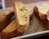 Spiced Pumpkin Peanut Butter Chip Biscotti - SugarLaneBakeShop