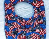 Baby /toddler Bib - Independence Day Bib - 4th of July Bib - Red, White and Blue - Grandmasandeze
