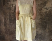 1950s  Buttercup Summer Sun Dress - Petrune