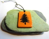 Recycled Wooden Fir Tree Pendant - crabbycrafter