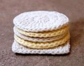 Fresh Cotton Crochet Face Pad Scrubbies, Eco Chic, Reusable, Bath/Body, For Men and Women, Handmade