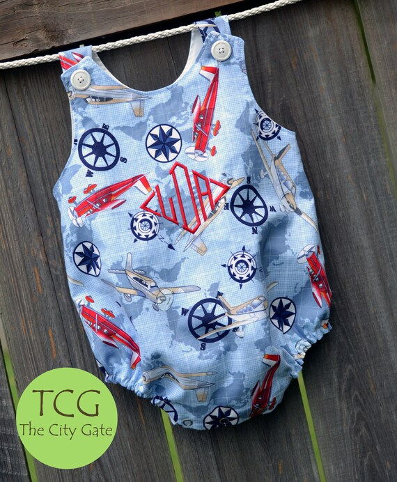 Custom Boy's Bubble Romper
