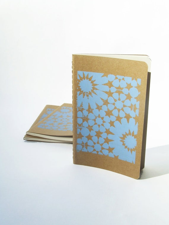 Pocket size Notebook with Moorish tile pattern by Alfamarama