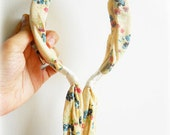 Lovely Floral Print Yellow Hairband, Floral Print Hairband, Yellow with Flower Print Headband