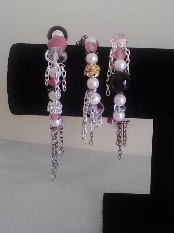 Jesus Charm Bracelet, I Love Jesus Stack Bracelets, Stretchy Chain Beaded Bracelet