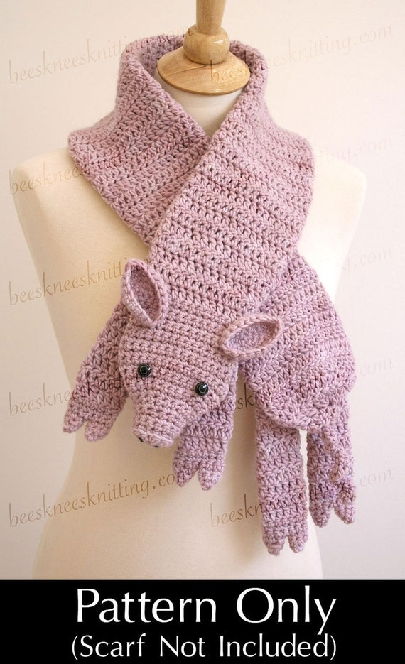 Digital PDF Crochet Pattern for This Little Piggy Scarf - DIY Fashion Tutorial - Instant Download