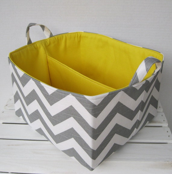 Large diaper caddy chevron