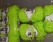 Trellis or Ladder yarn Lime Green
