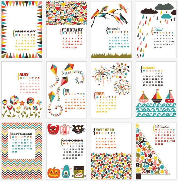 picture relating to Pretty Calendars known as Extremely Calendars for your table and place of work spot - Homemade