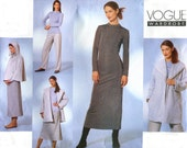 Vogue 2448 Fall Wardrobe Pattern - Hooded Coat and Cape / Dress / Top / Skirt / Pants - Size 8-10-12 - Uncut - treazureddesignz