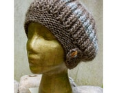 Slouch Hat with Wooden Buttons - HuzzahHandmade