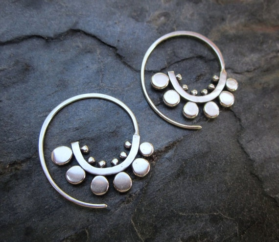 Small Sunflower Spiral Hoops