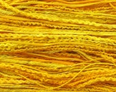 Mixed Thread Selection, cotton, linen, silk, viscose - bright yellow, golden yellow, lemon yellow