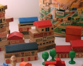 Vintage Playskool Village block set - fuzzymama