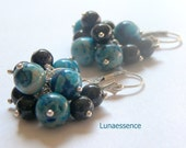 Blueberry Bunch Crazy Lace Agate Earrings - LunaEssence