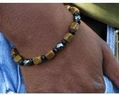 Men's Jasper Hematite Bracelet