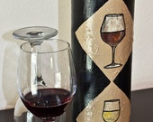 Decoupage Cylinder Wine Box