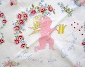 Vintage Handkerchief Gardening Angel - NeatoKeen