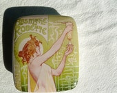 Personalized French Art Nouveau Absinthe Box - Personalized Christmas Gift - MilestoneDecalArt