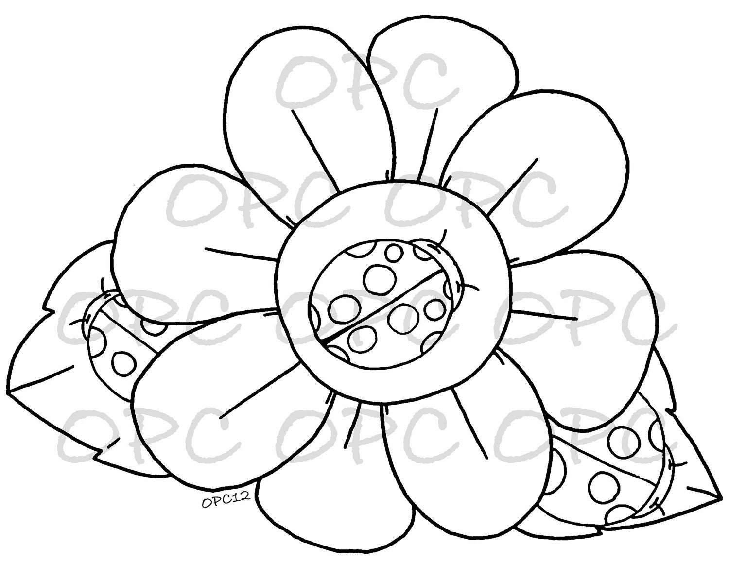 Pics for cute ladybugs coloring pages for Cute ladybug coloring pages