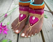 Magenta Yoga Barefoot Sandals - LotusRootsCreations