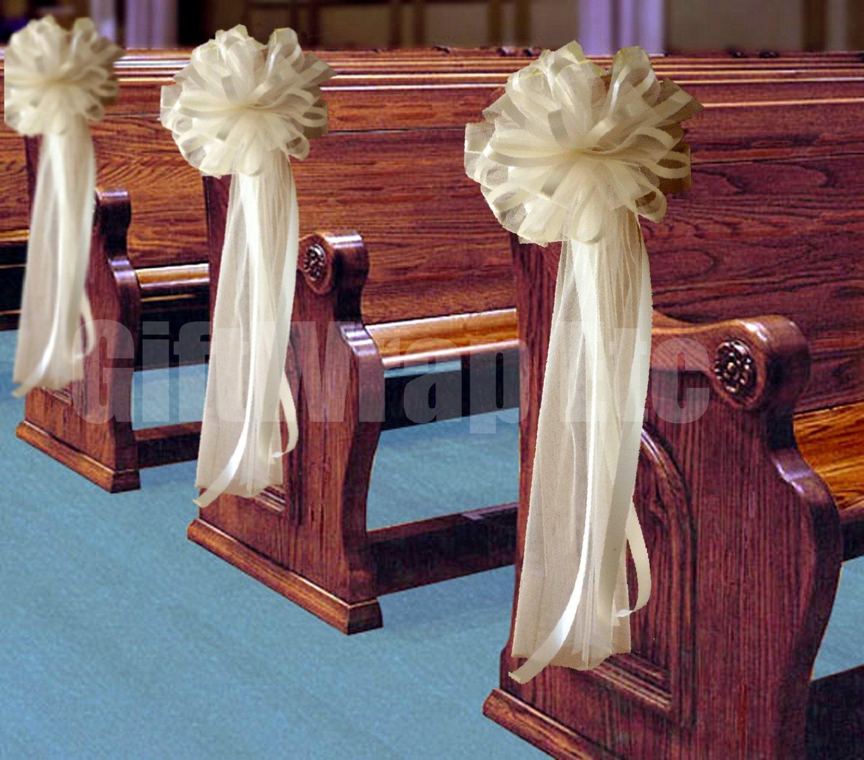 Luxury Wedding Church Pew Decorations Diy Wedding