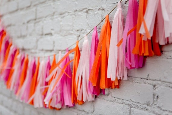 Tassel Party Garland: Hot Pink