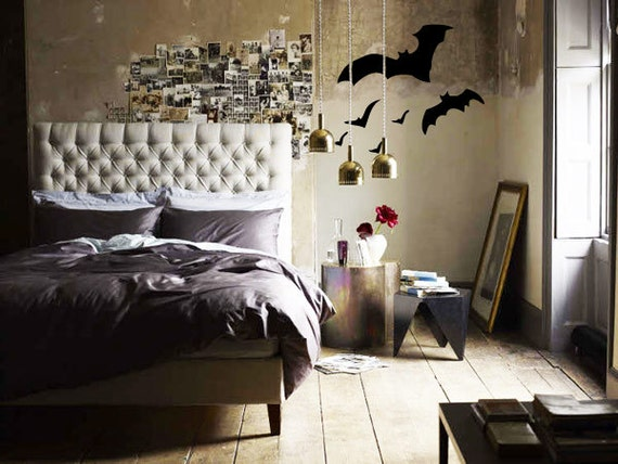 bats wall decal halloween decoration fjoll - Halloween Home Decor