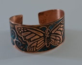Etched Copper Cuff - Butterfly