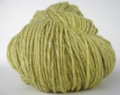 STRAW Hand Dyed Yarn Merino Sock Weight Yellow Local NY - spinningmulefibers