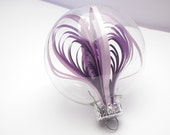 Quilled Purple Ombré coils in a glass ornament - YakawonisQuilling